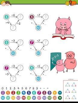 Jeu éducatif de puzzle d'addition mathématique pour les enfants