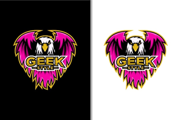 Jeu d'esport avec logo aigle de style geek
