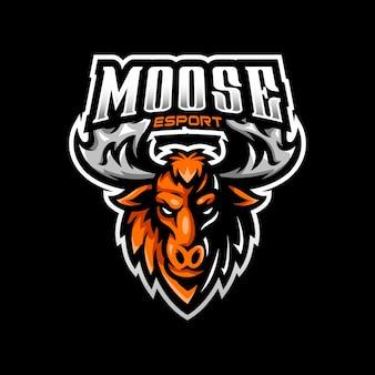 Jeu d'esport logo mascotte moose