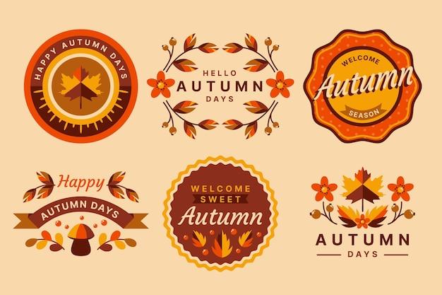 Jeu d'étiquettes d'automne