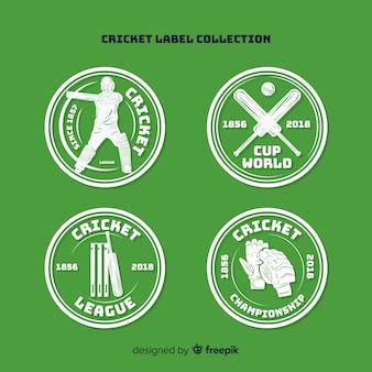 Jeu d'étiquettes de cricket