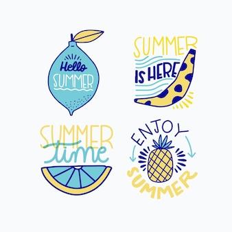 Jeu d'étiquettes d'été