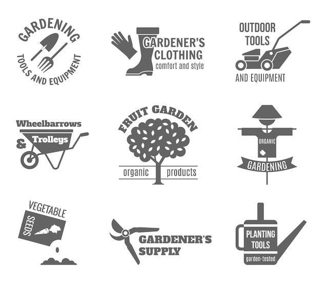 Jeu d'étiquettes de jardin