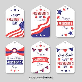 Jeu d'étiquettes president day