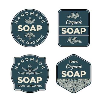 Jeu d'étiquettes de savon