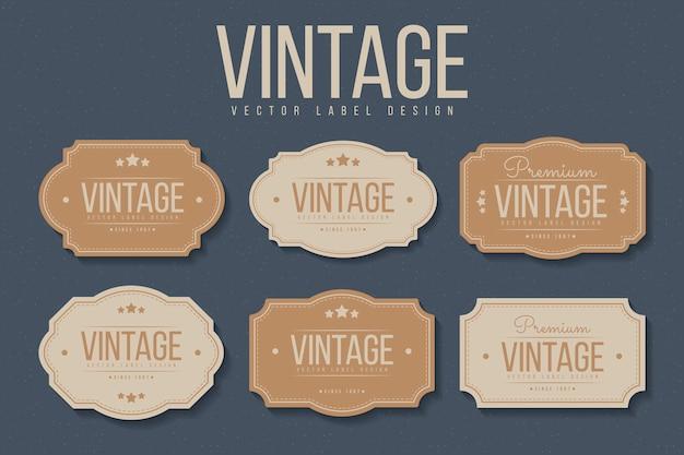 Jeu d'étiquettes vintage.