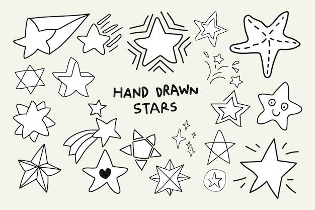 Jeu d'étoiles doodle