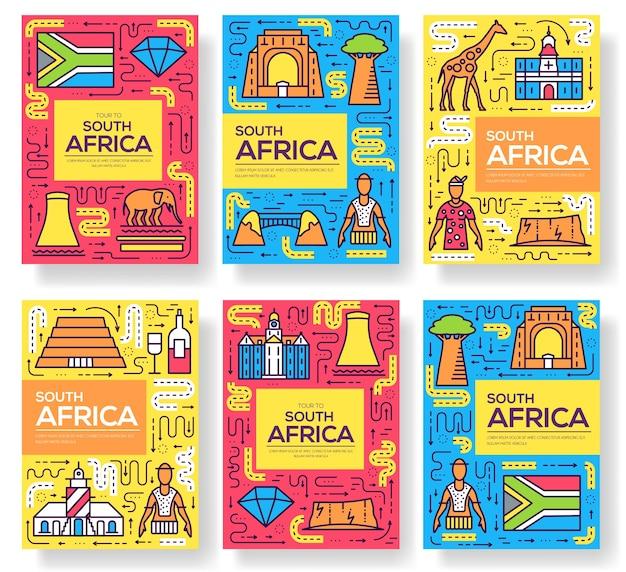 Jeu de fine ligne de cartes afrique du sud