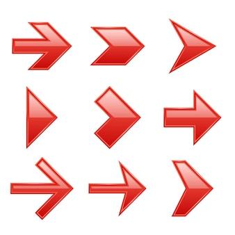 Jeu de flèches. icônes de flèche vers le bas vers le haut signe de pointeur à côté du curseur à droite à gauche interface web noire navigation à plat