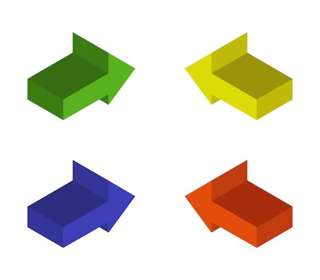 Jeu de flèches isométriques