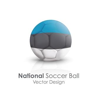 Jeu de fond ball soccerball classique