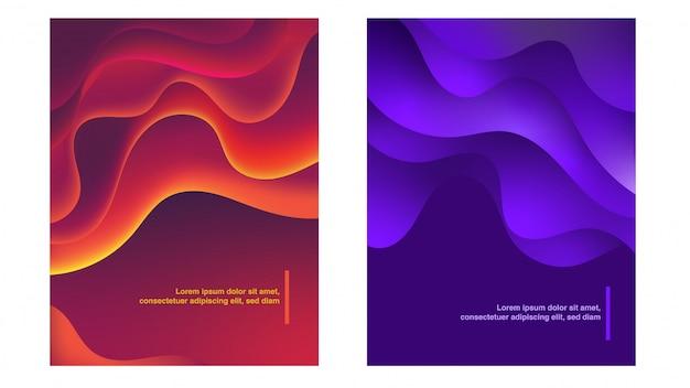 Jeu de fond de courbes abstraites colorées