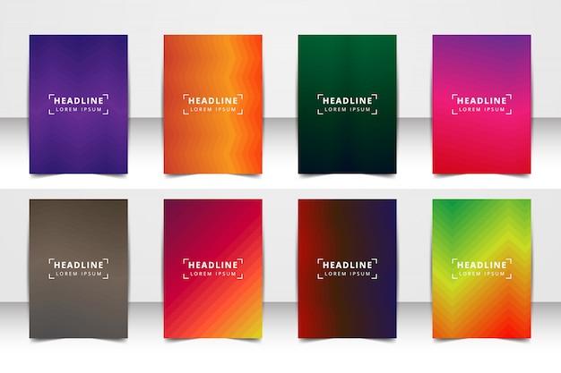 Jeu de fond de mise en page de vecteur abstraite. pour la conception de modèle d'art, liste, page de garde, style de thème de brochure maquette, bannière, idée, couverture, brochure, impression, flyer, livre, blanc, carte, annonce, signe, feuille, a4.