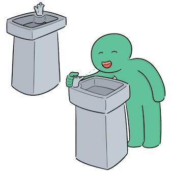 Jeu de fontaine d'eau potable vectorielles