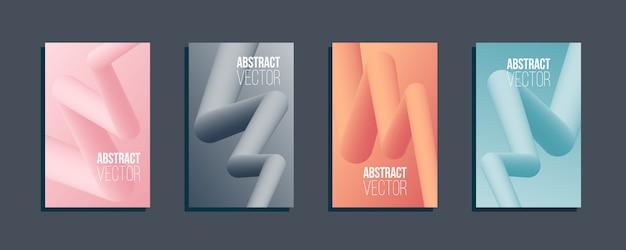Jeu de formes abstraites de flux 3d