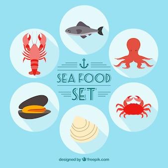 Jeu de fruits de mer