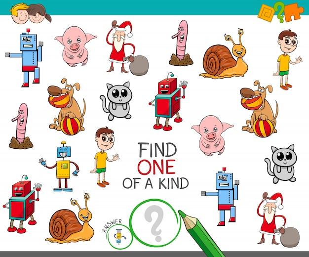 Un jeu d'un genre avec des personnages de dessins animés