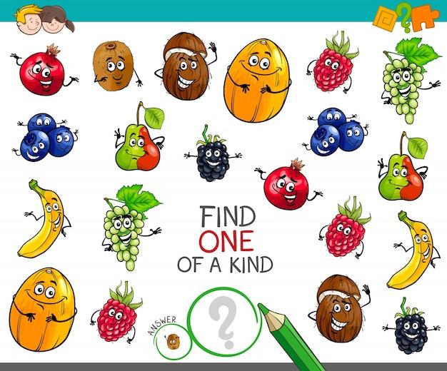 Un jeu d'un genre avec des personnages de fruits