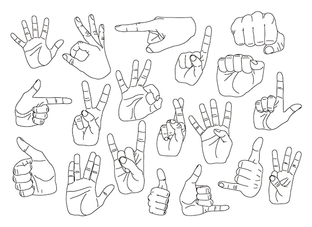 Jeu de gestes de main