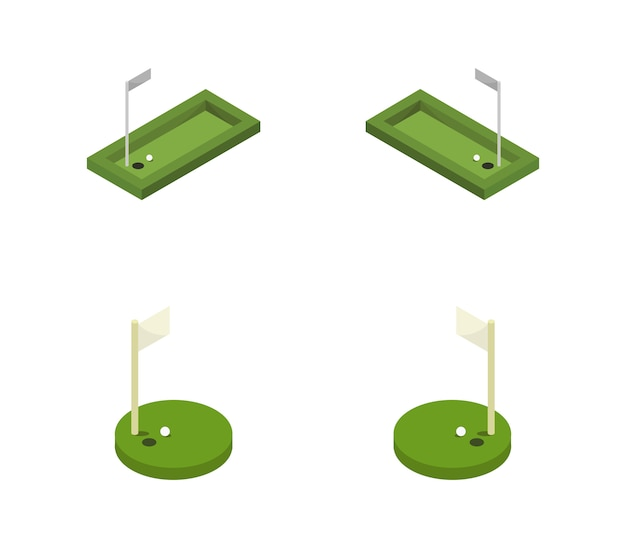 Jeu de golf isométrique