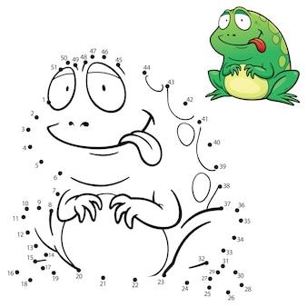 Jeu de grenouille point à point pour enfants