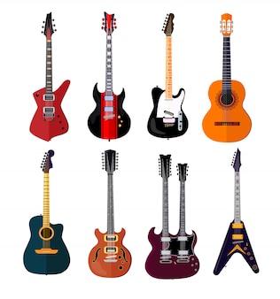 Jeu de guitare de concert