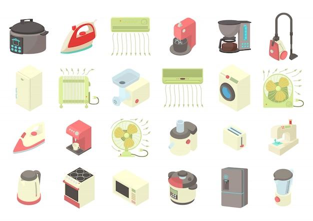 Jeu d'icônes appareils ménagers
