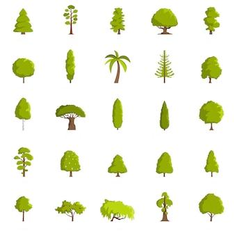 Jeu d'icônes d'arbres