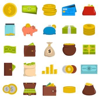 Jeu d'icônes d'argent