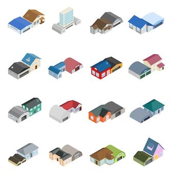 Jeu d'icônes de bâtiment