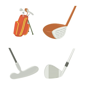 Jeu d'icônes de bâton de golf