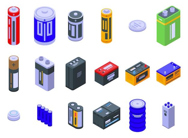 Jeu d'icônes de batterie