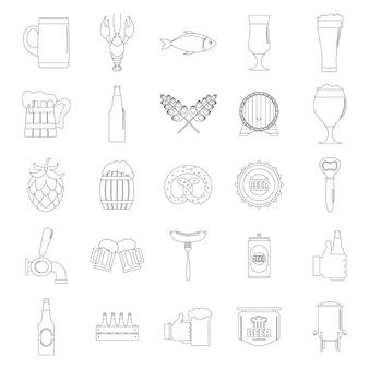 Jeu d'icônes de bière