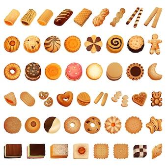 Jeu d'icônes de biscuit