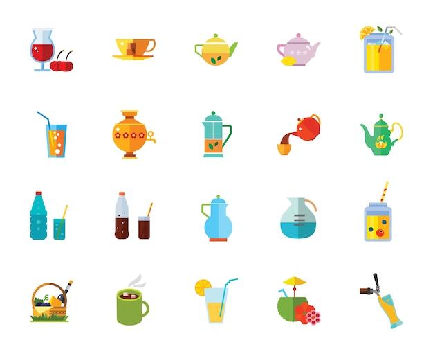 Jeu d'icônes de boissons
