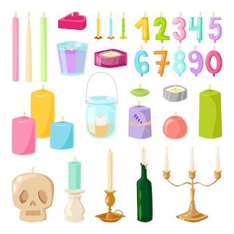 Jeu d'icônes de bougies