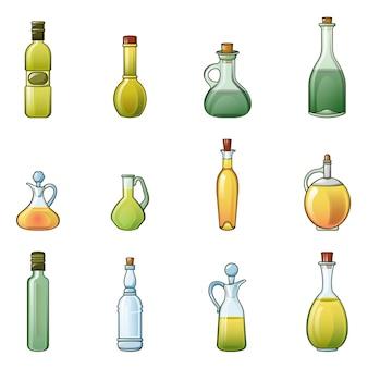 Jeu d'icônes de bouteille de vinaigre