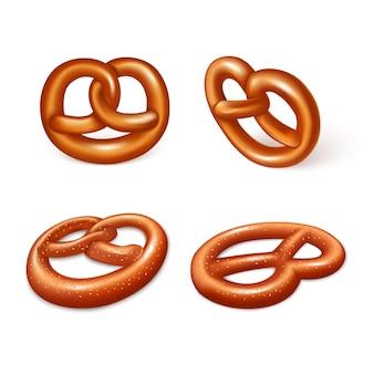 Jeu d'icônes de bretzels allemands