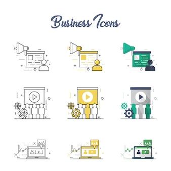 Jeu d'icônes business concept