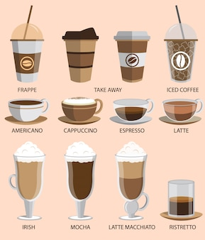 Jeu d'icônes de café