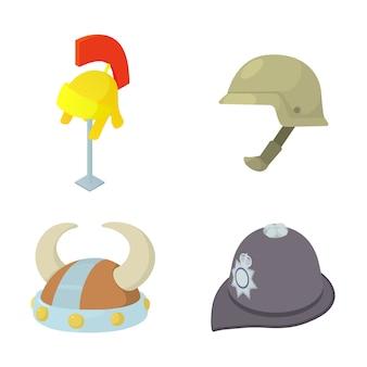 Jeu d'icônes de casque