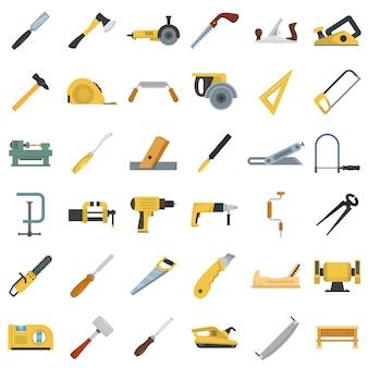 Jeu d'icônes de charpentier