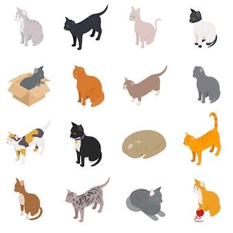 Jeu d'icônes de chat
