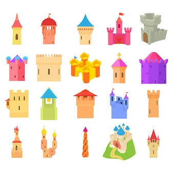 Jeu d'icônes de château