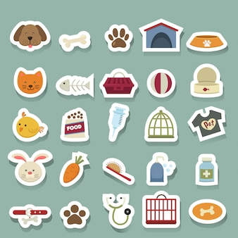 Jeu d'icônes de chien