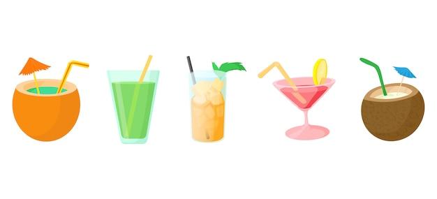 Jeu d'icônes de cocktail