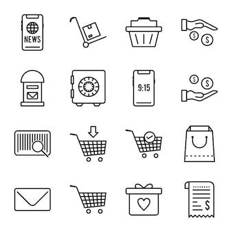 Jeu d'icônes de commerce électronique