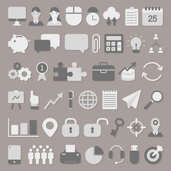 Jeu d'icônes commerciales vectorielles