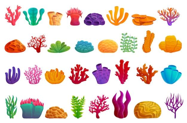 Jeu d'icônes de corail