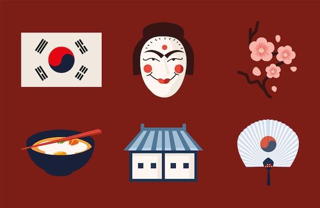 Jeu d'icônes coréen